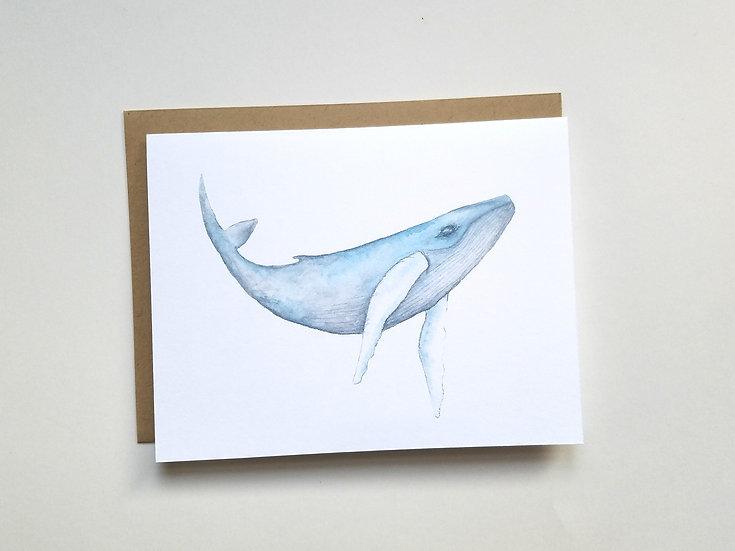 Majestic Humpback Note Card