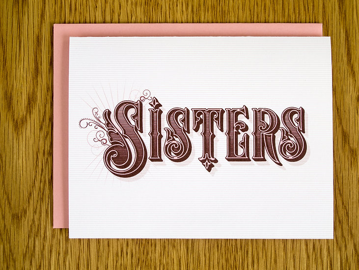 Sisters Note Card