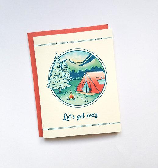 Let's Get Cozy Note Card