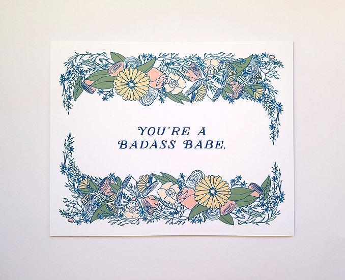 Badass Babe Art Print