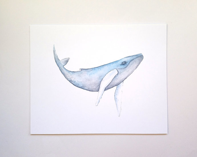 Majestic Humpback Art Print