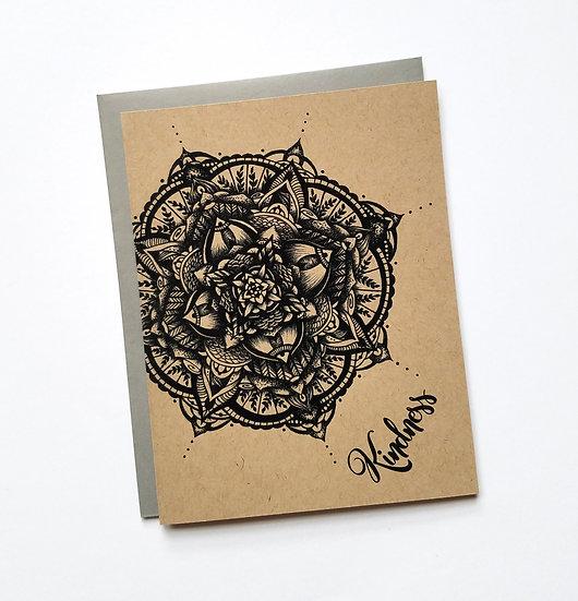 Kindness Mandala Note Card