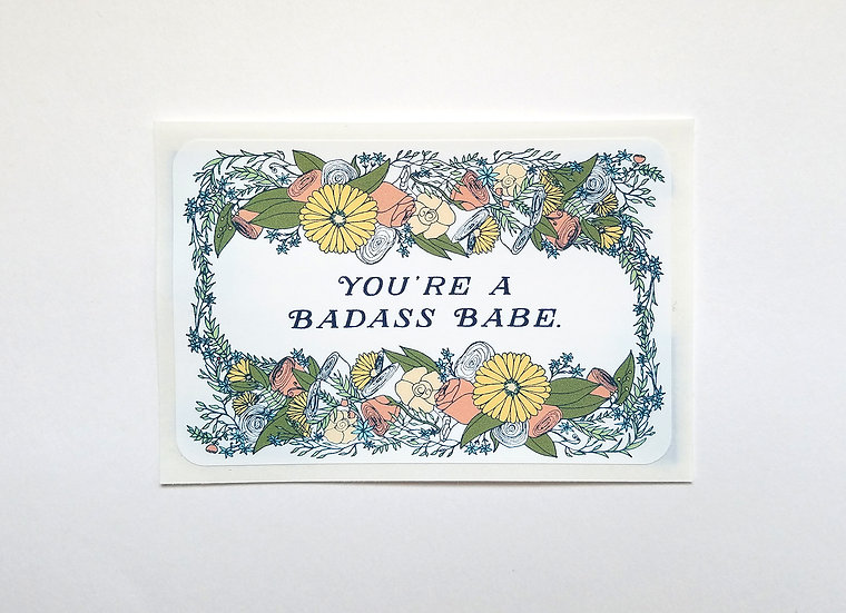 Badass Babe Sticker