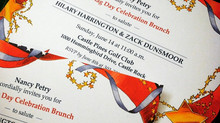Flag Day Brunch Invitation for a Bride and Groom