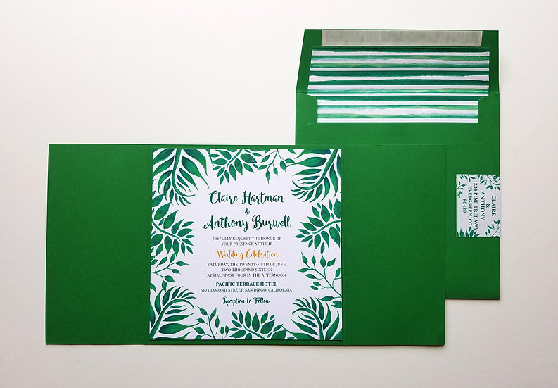 Leafy Botanical Wedding Invitation Bundle