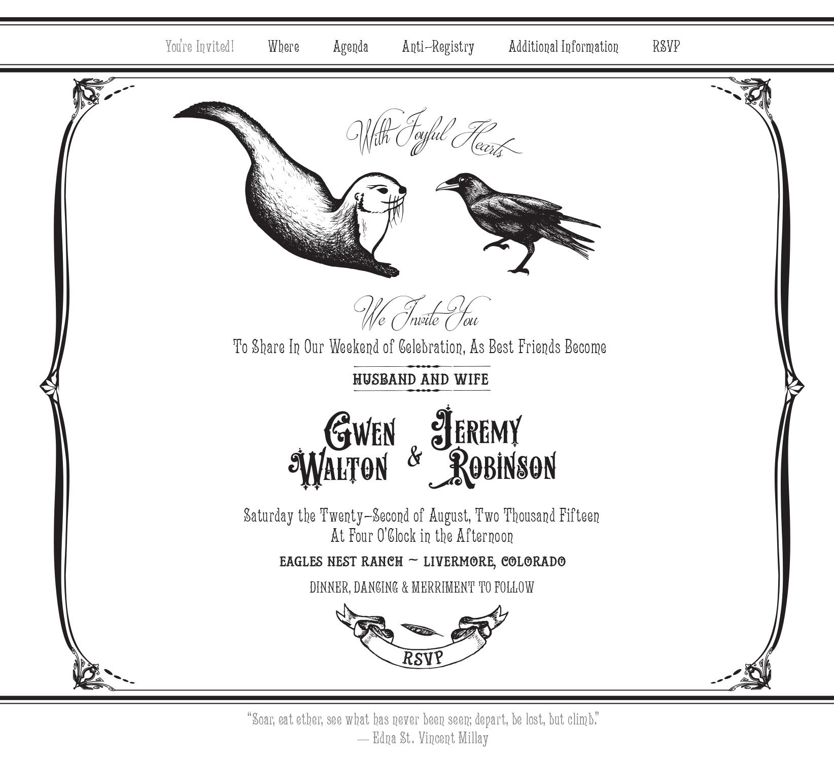 Otter & Crow Wedding