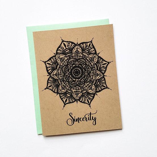 Sincerity Mandala Note Card