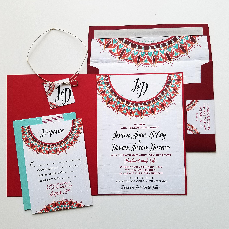 Sun Mandala Wedding Invitation Bundle