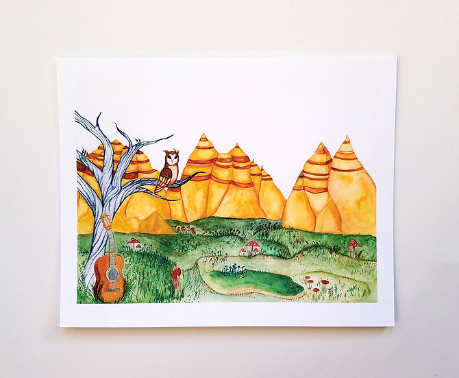 Watercolor Landscape Art Print