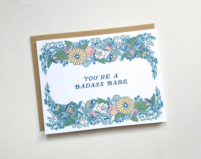 Badass Babe Note Card