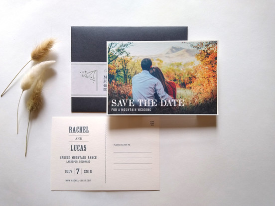 Mountain Wedding Save the Date