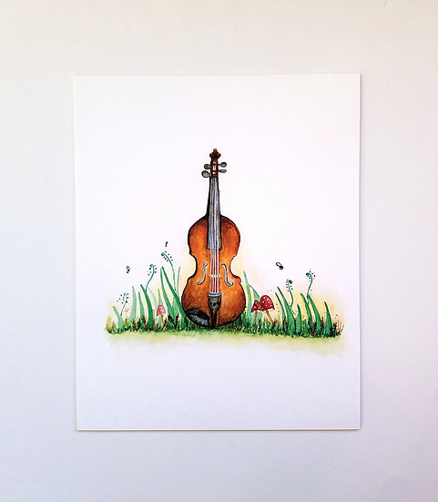 Whimsical Violin Art Print