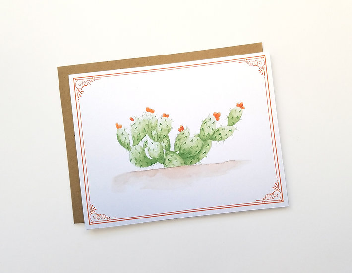 Prickly Pear Note Card