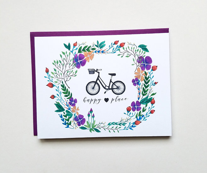 My Bike, My Happy Place Note Card