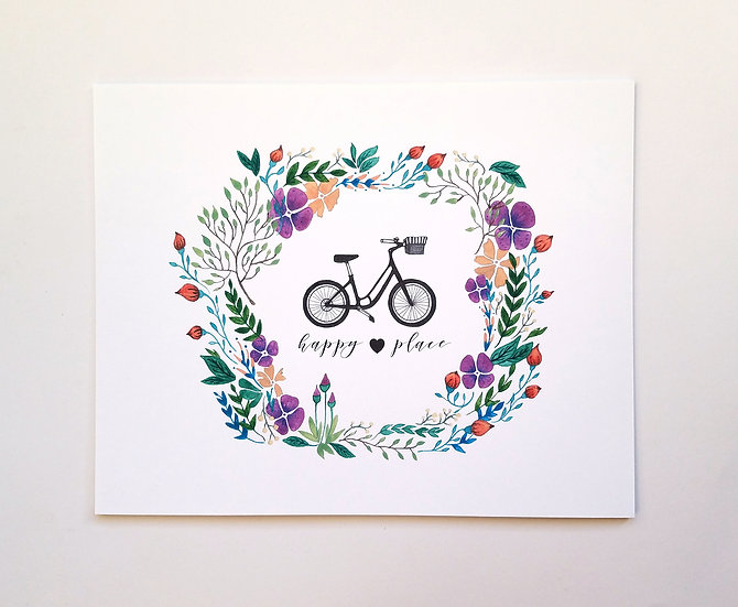 My Bike, My Happy Place Art Print