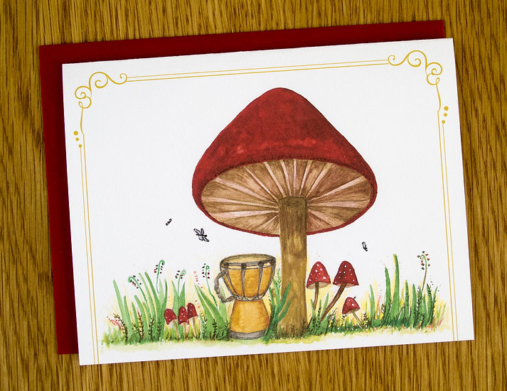 Cozy Red Mushroom Note Card