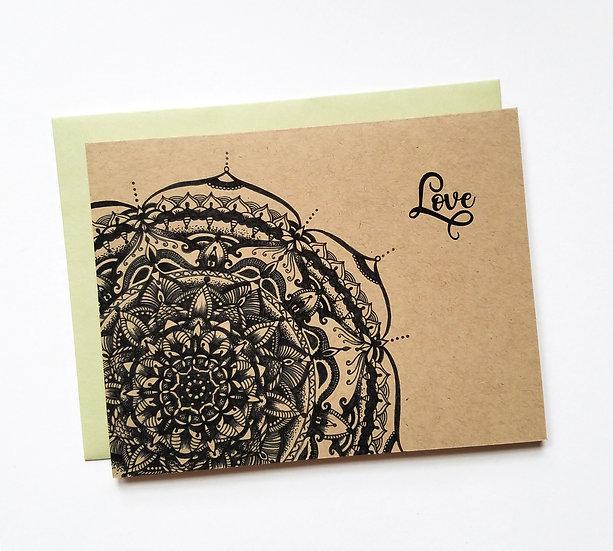 Love Mandala Note Card
