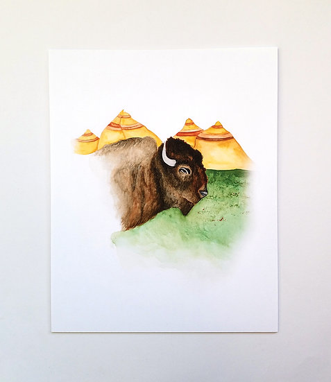 The Mighty Bison Art Print