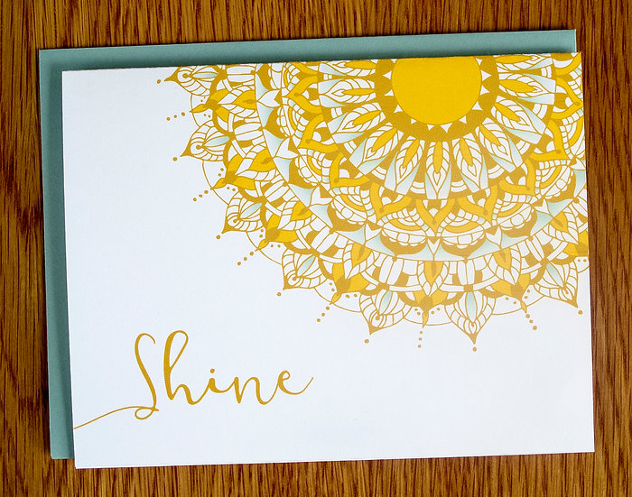 Shine Mandala Note Card