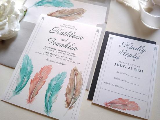 Desert Feathers Wedding: Kathleen & Franklin