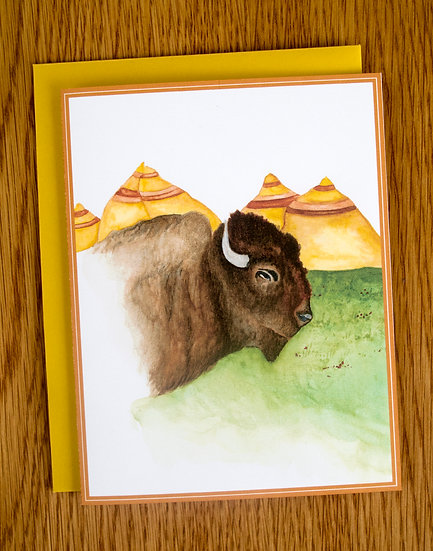 The Mighty Bison Note Card
