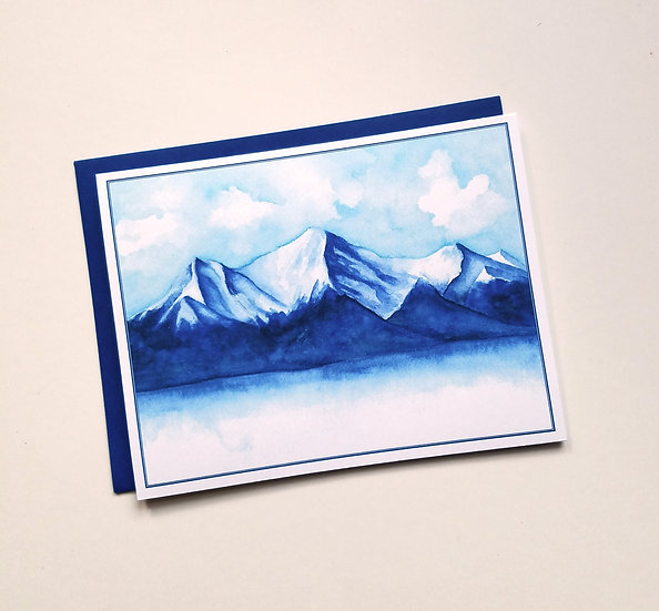 Rocky Mountain Watercolor Note Card