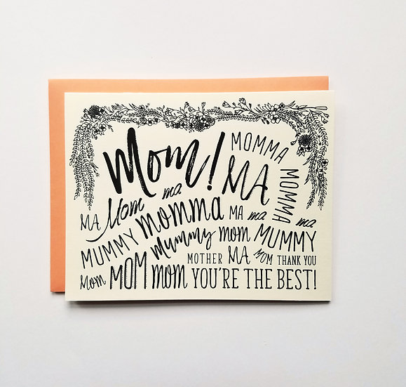Mom! Momma, Ma Note Card