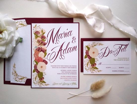 Rustic Floral Wedding: Maria & Adam