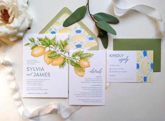 Summer Citrus Wedding: Sylvia & James