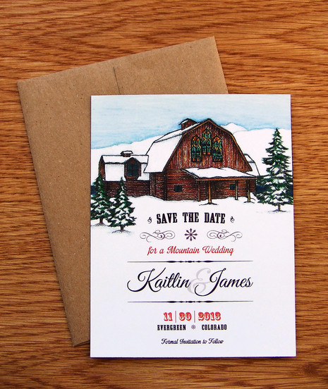 Winter Wedding at the Barn: Kaitlin & James