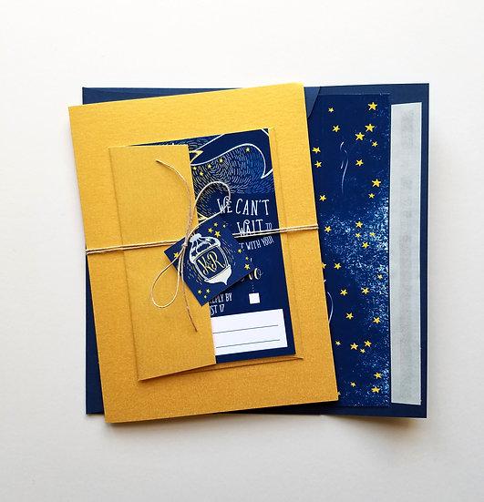 Under the Glowing Moon Wedding Invitation Bundle