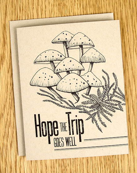 Hope the Trip Goes Well Note Card