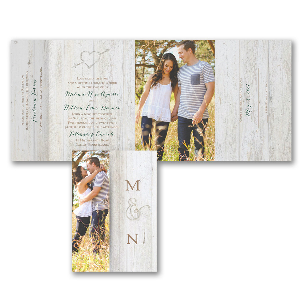 Wedding invitation with picture