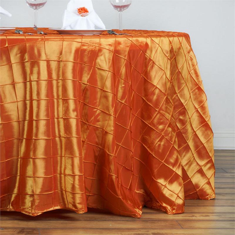Orange Pintuck Tablecloth