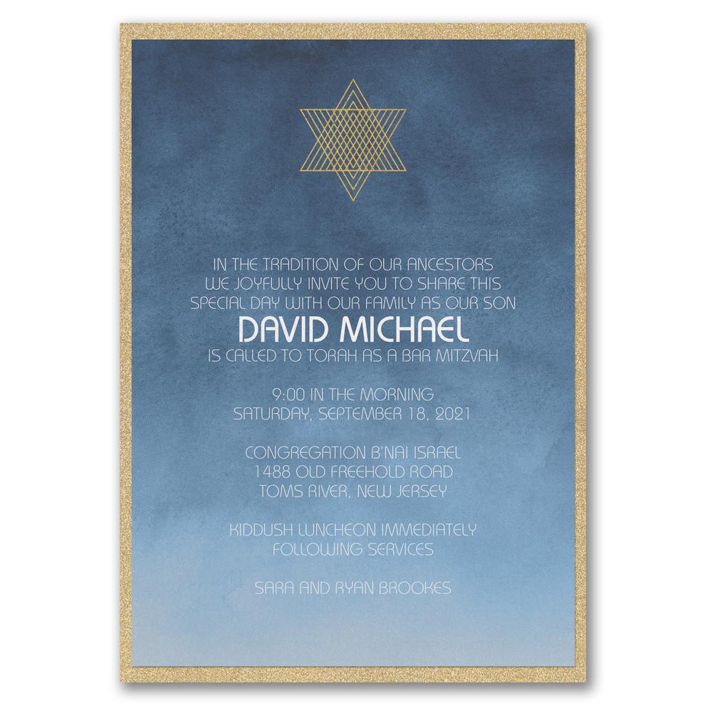 Faire part Bar Mitzvah
