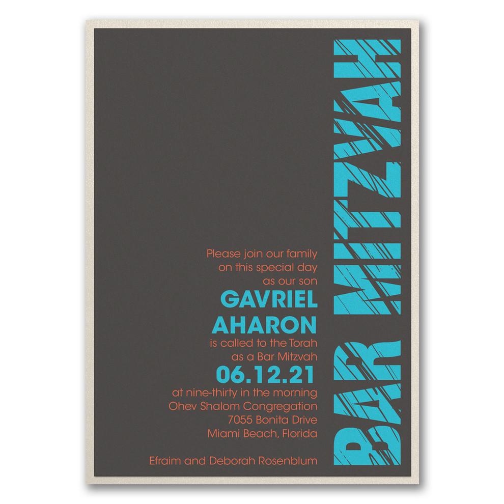 Invitation Bar Mitzvah moderne