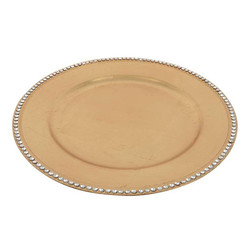 Gold Charger Plate with Diamonds