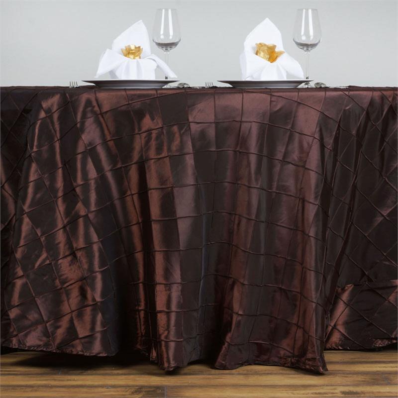 Brown Pintuck Taffeta Tablecloth