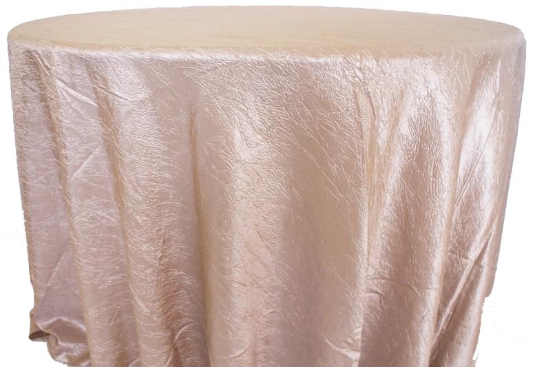 Champaign Crinkle Taffeta Tablecloth
