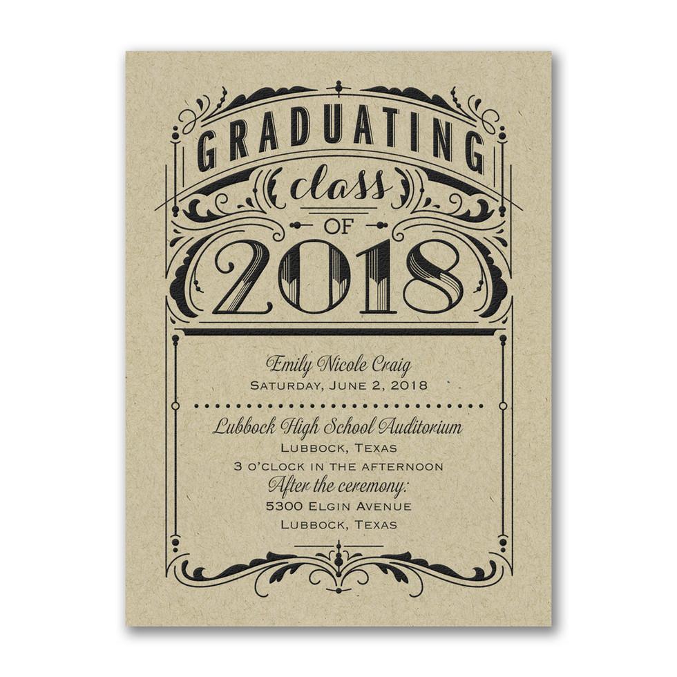 Invitation pour la remise des diplômes