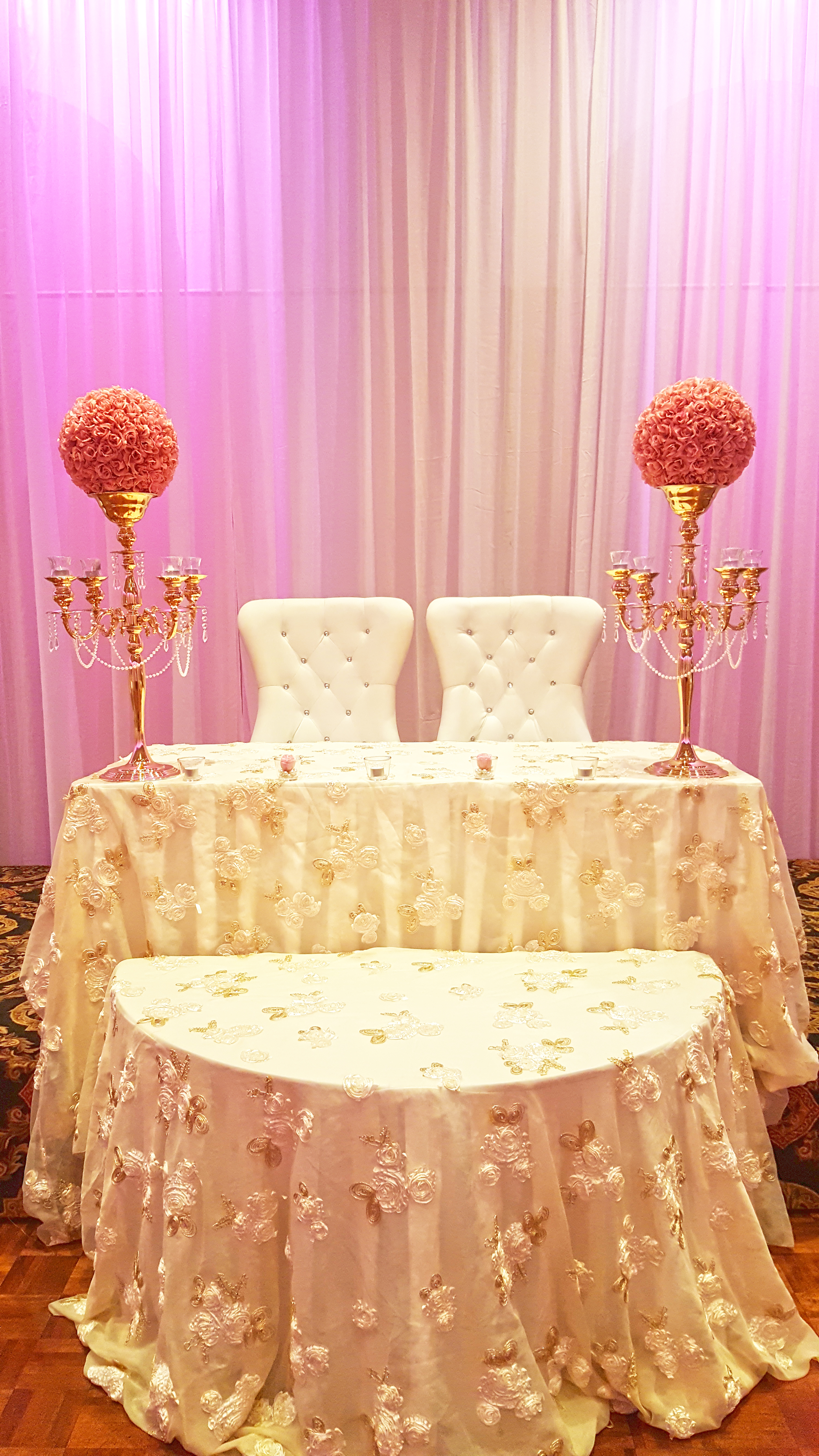 Bride and Groom chairs in White