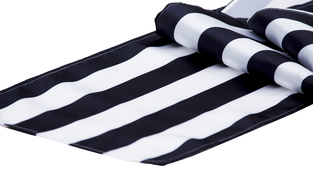Black stripes table runner