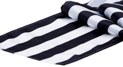 Black stripes table runner