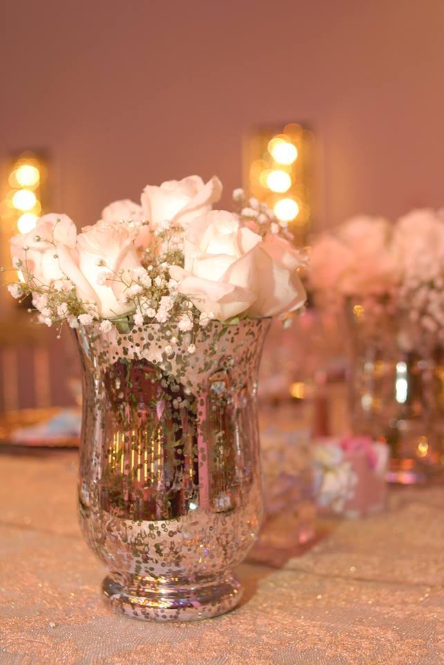 Silver Speckled Vase