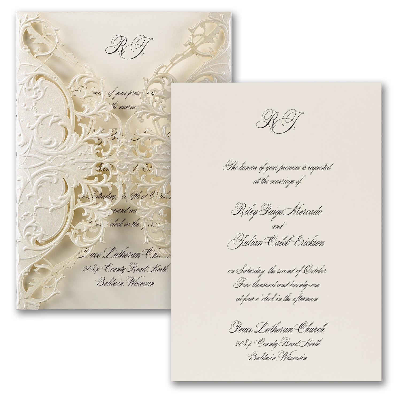 Wedding invitation elegant design