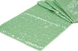 Mint green table runner