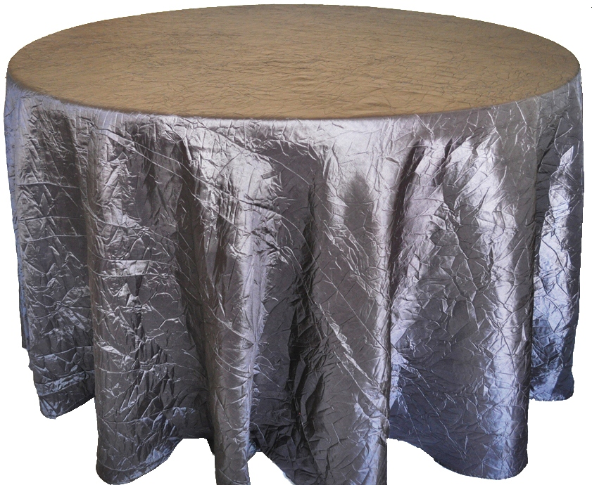 Pewter Crinkle Taffeta Tablecloth