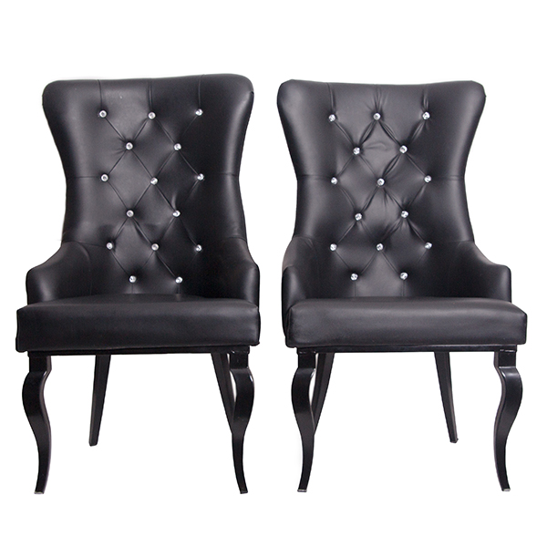 Black Bride and Groom chairs