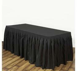Jupes de table en noir.