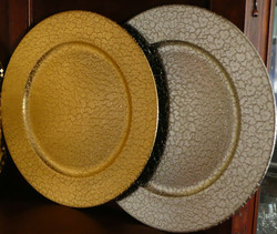 Gold and silver charger plate